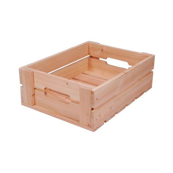 Æblekasse fremstillet af lærketræ