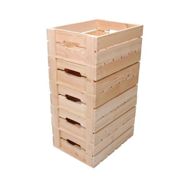 Æblekasser der kan stables