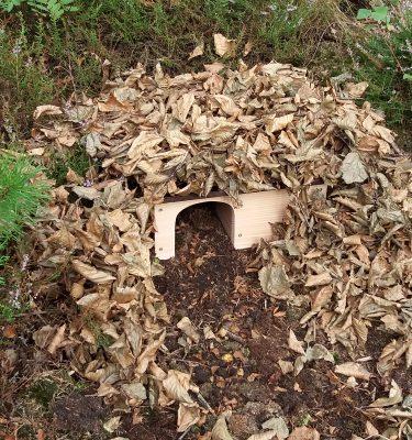 Pindsvinehus der passer godt ind i naturen