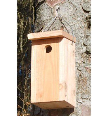 Fuglekasse til spurve, vipstjert og musvit