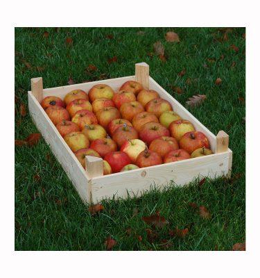Æblekasse med æbler