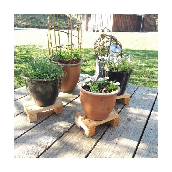 Minipaller til dekoration i hus og have