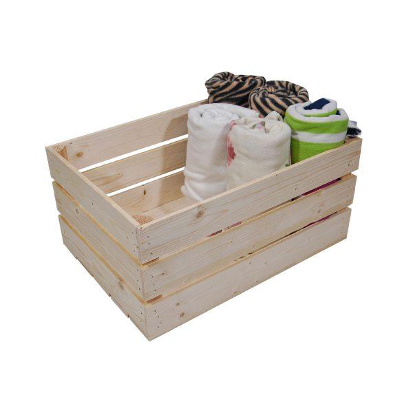 Opbevaringskasse til frugt, grønt, eller tæpper som på billedet