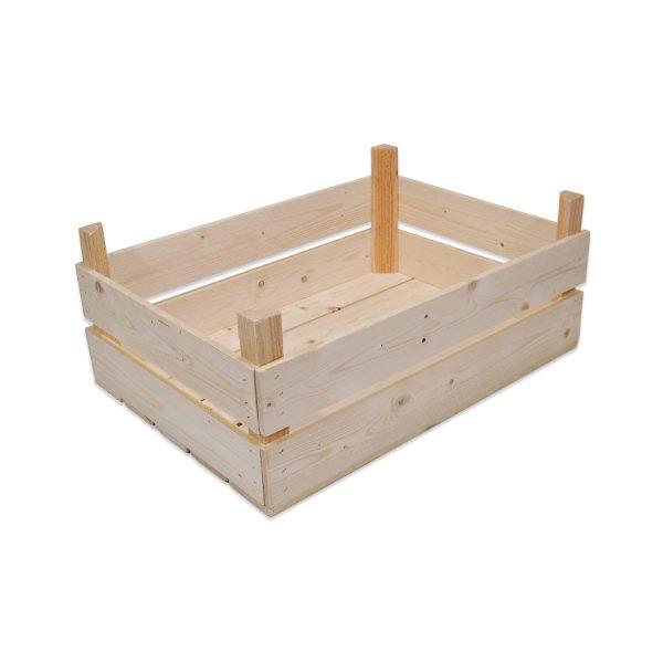 Æblekasse fremstillet af tynde granbrædder til flere lag æbler eller frugter