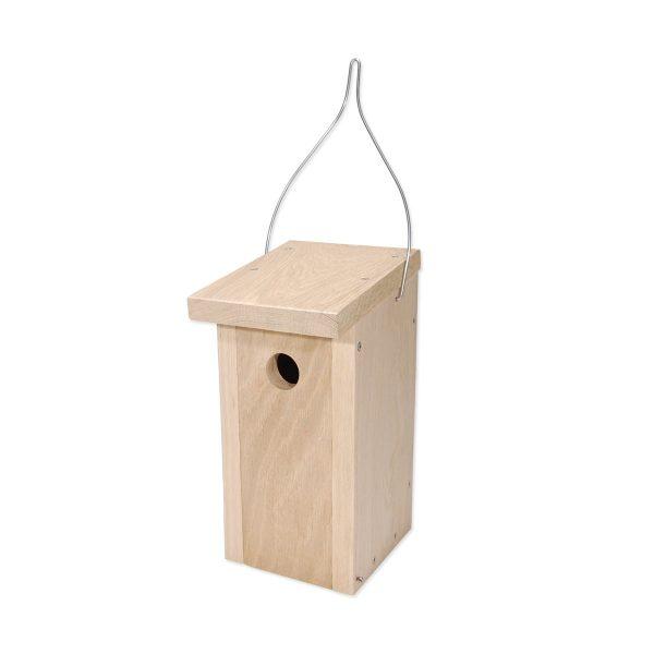Fuglekasse fremstillet af FSC® certificeret egetræ